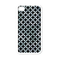 Circles3 Black Marble & Ice Crystals (r) Apple Iphone 4 Case (white) by trendistuff