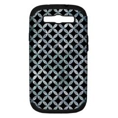 Circles3 Black Marble & Ice Crystals (r) Samsung Galaxy S Iii Hardshell Case (pc+silicone) by trendistuff