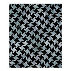 Houndstooth2 Black Marble & Ice Crystals Shower Curtain 60  X 72  (medium)  by trendistuff