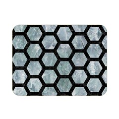 Hexagon2 Black Marble & Ice Crystals Double Sided Flano Blanket (mini)  by trendistuff