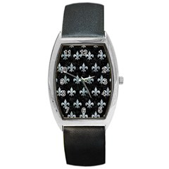 Royal1 Black Marble & Ice Crystals Barrel Style Metal Watch by trendistuff