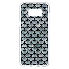 Scales3 Black Marble & Ice Crystals Samsung Galaxy S8 Plus White Seamless Case by trendistuff