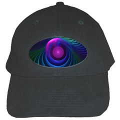 Beautiful Rainbow Marble Fractals In Hyperspace Black Cap by beautifulfractals