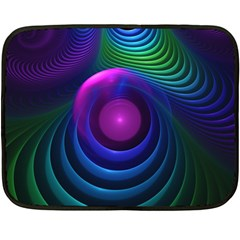 Beautiful Rainbow Marble Fractals In Hyperspace Double Sided Fleece Blanket (mini)  by jayaprime