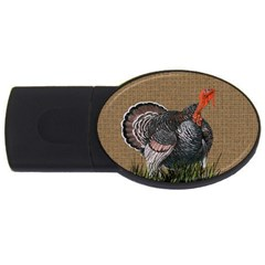 Thanksgiving Turkey Usb Flash Drive Oval (4 Gb) by Valentinaart