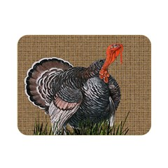 Thanksgiving Turkey Double Sided Flano Blanket (mini)  by Valentinaart