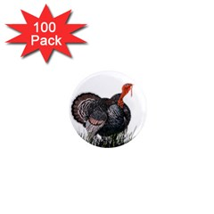 Thanksgiving Turkey 1  Mini Magnets (100 Pack)  by Valentinaart