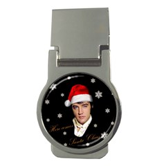 Elvis Presley   Christmas Money Clips (round)  by Valentinaart