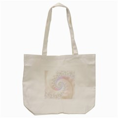 Mother Of Pearls Luxurious Fractal Spiral Necklace Tote Bag (cream) by beautifulfractals