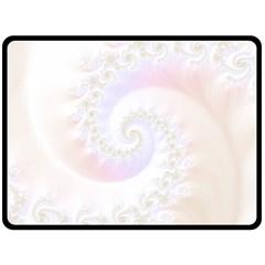 Mother Of Pearls Luxurious Fractal Spiral Necklace Fleece Blanket (large)  by jayaprime