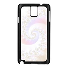 Mother Of Pearls Luxurious Fractal Spiral Necklace Samsung Galaxy Note 3 N9005 Case (black) by beautifulfractals