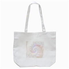 Mother Of Pearls Luxurious Fractal Spiral Necklace Tote Bag (white) by beautifulfractals