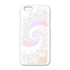 Mother Of Pearls Luxurious Fractal Spiral Necklace Apple Iphone 6/6s White Enamel Case by beautifulfractals