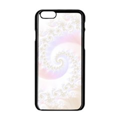 Mother Of Pearls Luxurious Fractal Spiral Necklace Apple Iphone 6/6s Black Enamel Case by beautifulfractals