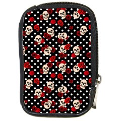 Skulls And Roses Compact Camera Cases by Valentinaart