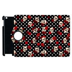 Skulls And Roses Apple Ipad 3/4 Flip 360 Case by Valentinaart