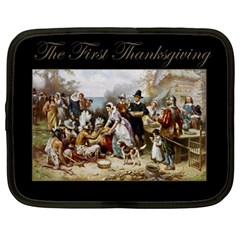 The First Thanksgiving Netbook Case (large) by Valentinaart