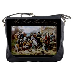 The First Thanksgiving Messenger Bags by Valentinaart