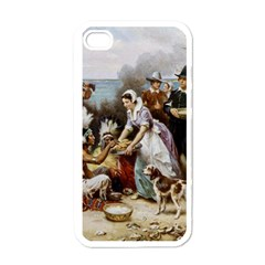 The First Thanksgiving Apple Iphone 4 Case (white) by Valentinaart