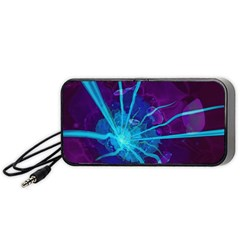 Beautiful Bioluminescent Sea Anemone Fractalflower Portable Speaker by jayaprime