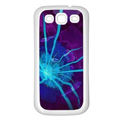 Beautiful Bioluminescent Sea Anemone Fractalflower Samsung Galaxy S3 Back Case (white) by beautifulfractals