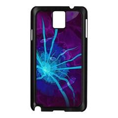 Beautiful Bioluminescent Sea Anemone Fractalflower Samsung Galaxy Note 3 N9005 Case (black) by beautifulfractals
