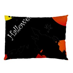 Castil Witch Hlloween Sinister Night Home Bats Pillow Case (two Sides) by Alisyart