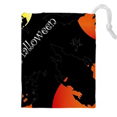 Castil Witch Hlloween Sinister Night Home Bats Drawstring Pouches (xxl) by Alisyart