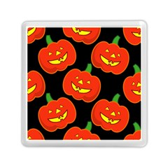 Halloween Party Pumpkins Face Smile Ghost Orange Black Memory Card Reader (square)  by Alisyart
