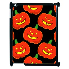 Halloween Party Pumpkins Face Smile Ghost Orange Black Apple Ipad 2 Case (black) by Alisyart