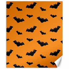 Halloween Bat Animals Night Orange Canvas 20  X 24   by Alisyart