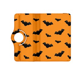 Halloween Bat Animals Night Orange Kindle Fire Hdx 8 9  Flip 360 Case by Alisyart
