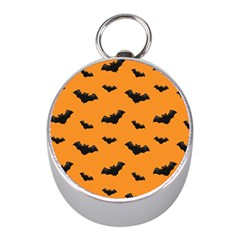 Halloween Bat Animals Night Orange Mini Silver Compasses by Alisyart