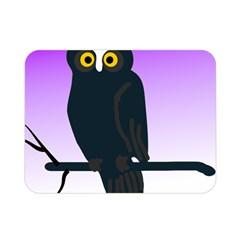 Halloween Owl Bird Animals Night Double Sided Flano Blanket (mini)  by Alisyart