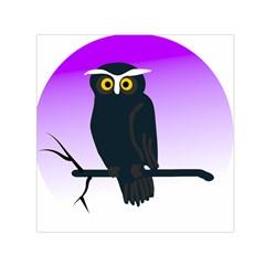 Halloween Owl Bird Animals Night Small Satin Scarf (square) by Alisyart