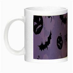 Halloween Pumpkin Bat Spider Purple Black Ghost Smile Night Luminous Mugs by Alisyart