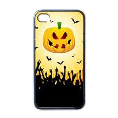 Halloween Pumpkin Bat Party Night Ghost Apple Iphone 4 Case (black) by Alisyart