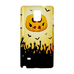 Halloween Pumpkin Bat Party Night Ghost Samsung Galaxy Note 4 Hardshell Case by Alisyart