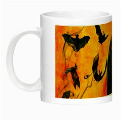 Halloween Pumpkin Bat Ghost Orange Black Smile Night Luminous Mugs by Alisyart