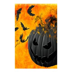 Halloween Pumpkin Bat Ghost Orange Black Smile Shower Curtain 48  X 72  (small)  by Alisyart