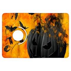Halloween Pumpkin Bat Ghost Orange Black Smile Kindle Fire Hdx Flip 360 Case by Alisyart