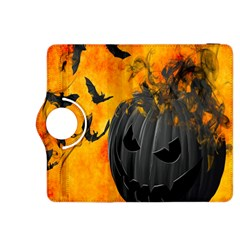 Halloween Pumpkin Bat Ghost Orange Black Smile Kindle Fire Hdx 8 9  Flip 360 Case by Alisyart