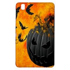 Halloween Pumpkin Bat Ghost Orange Black Smile Samsung Galaxy Tab Pro 8 4 Hardshell Case by Alisyart