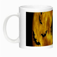 Halloween Wicked Witch Bat Moon Night Night Luminous Mugs by Alisyart