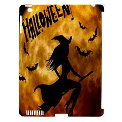 Halloween Wicked Witch Bat Moon Night Apple Ipad 3/4 Hardshell Case (compatible With Smart Cover) by Alisyart