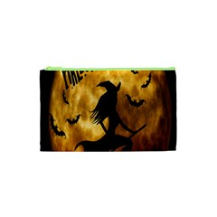 Halloween Wicked Witch Bat Moon Night Cosmetic Bag (xs) by Alisyart