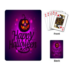 Happy Ghost Halloween Playing Card by Alisyart