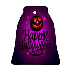 Happy Ghost Halloween Bell Ornament (two Sides) by Alisyart
