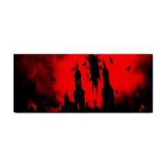 Big Eye Fire Black Red Night Crow Bird Ghost Halloween Cosmetic Storage Cases by Alisyart