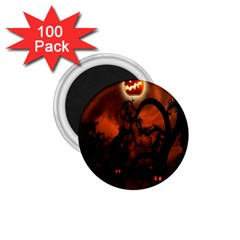 Halloween Pumpkins Tree Night Black Eye Jungle Moon 1 75  Magnets (100 Pack)  by Alisyart